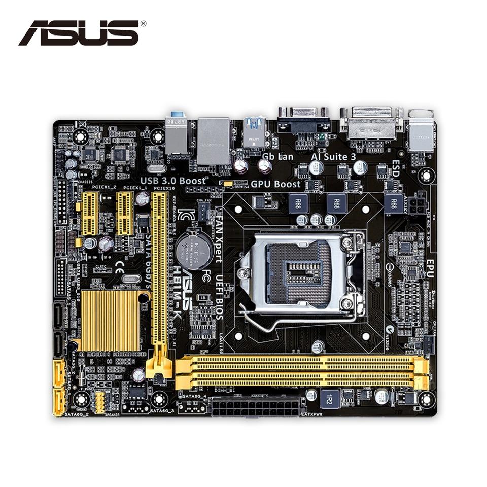 Asus H81M-K Desktop Motherboard H81 Socket LGA 1150 i7 i5 i3 DDR3 16G SATA3 UBS3.0 Micro-ATX Second-hand High Quality asus maximus vii ranger desktop motherboard m7r z97 socket lga 1150 i7 i5 i3 ddr3 32g sata3 atx second hand high quality