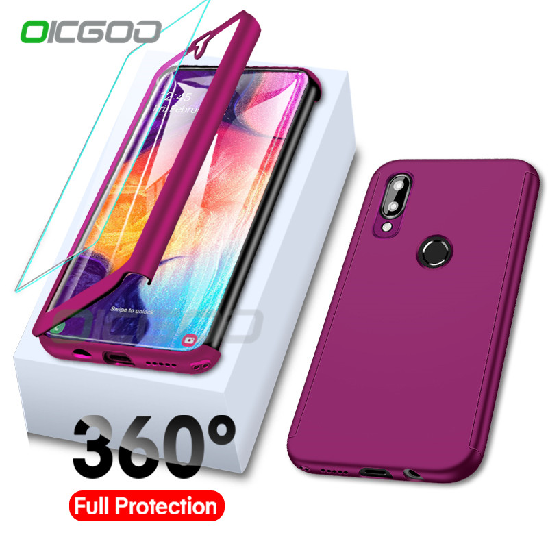 360 Full Body Protective Case For Samsung Galaxy A50 A70 A40 A30 A60 A10 A20 M20 M30 M10 J4 J6 A6 A8 Plus A7 A9 2018 Cases Cover(China)
