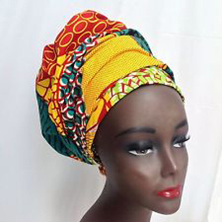 Not Ready To Wear  Dashiki Women hair accessories Bazin Riche African  Gele Head Tie Wrap Scarf Print Ankara Batik Wax BRW YA01-in Hair Jewelry  from ... d005e2d7dfd