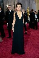 Inspired 2013 Samantha Barks 85th Oscar Academy Awards Sexy Black Deep V Neck Long Red Carpet
