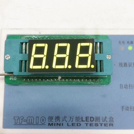 Free Ship100pc Common anode/Common cathode 0.56 inch digital tube 3 bit digital tube 0.56inches best  Yellow-green digital tube