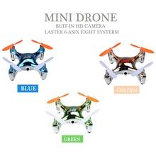 2017 Mini RC Drone con Cámara HD 3D Rollos Quadcopte Control Remoto toys control dron con 0.3mp cámara rc helicopte juguete como kid regalo
