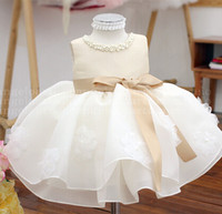 Champagne Summer Baby girls TUTU Dresses For 1st birthday Party, Christening vestidos,infant wedding outfit