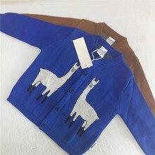 Llama Cardigan 2017 autumn winter new TC knit for baby boys girls kids