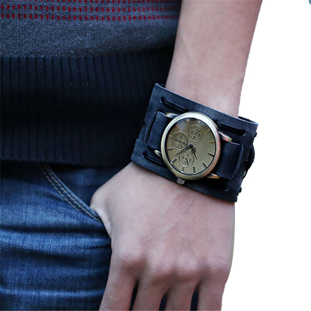 popular mens leather cuff watches buy cheap mens leather cuff mens leather cuff watches