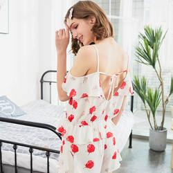 Yomrzl A620 Новое поступление летнее шифоновое женские пижамы набор 3 шт. Роза сна комплект уютный дом в стиле пижамы Домашняя одежда