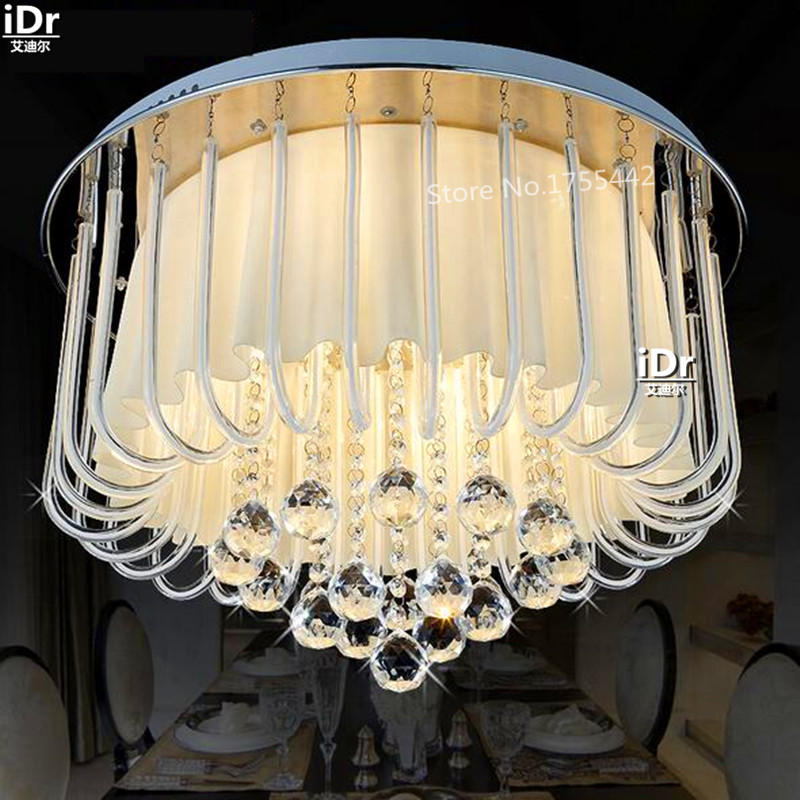 round LED crystal lamp restaurant bedroom lamp LED lighting lamps Ceiling Lights Upscale atmosphere high quality  Dia550xH400mm