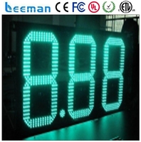 Leeman Led Manufacturer 16 5 Digits Outdoor LED Digital Gas Price Display With RF Remote