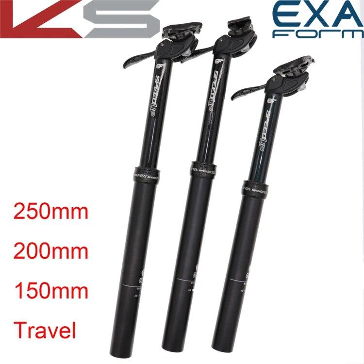 Kindshock dropper seatpost adjustable 125 150 200 250mm height Exaform speedup 30 9 31 6 MTB