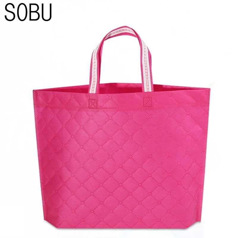 f9b38fc8fd19 2017 Fashion Unisex Women Men Reusable Shopping Bag Grocery Star Dot  Striped Handbags Tote Environmental Folding