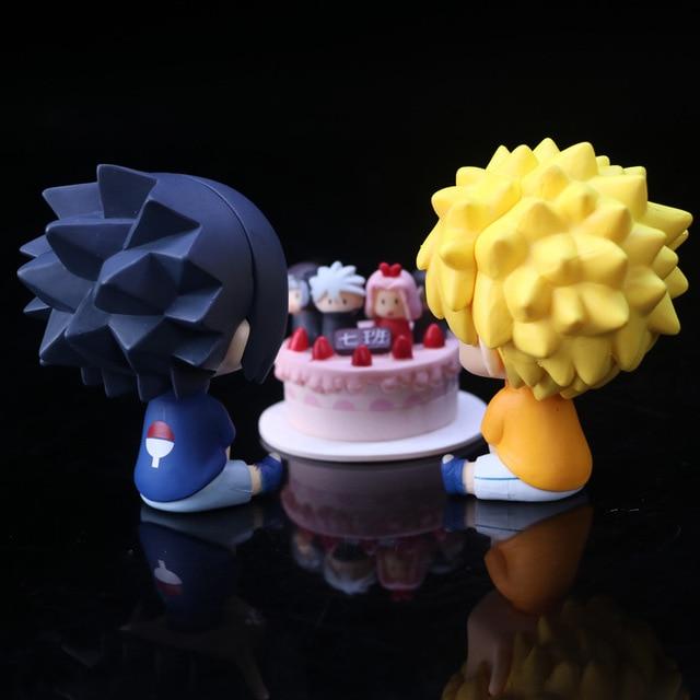 2pcs/set Naruto Uzumaki Sasuke PVC Q Version Action Figure Toy