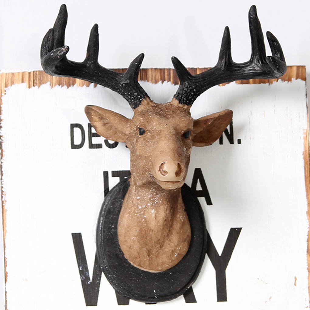 Wood Moose Head Deer Wall Decoration Home Hanging Painting Ornament In Calligraphy From Garden On Aliexpress Alibaba