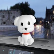 Car Ornament Cute Shaking Head Dog Nodding Puppy Doll Automobiles Dashboard Deco