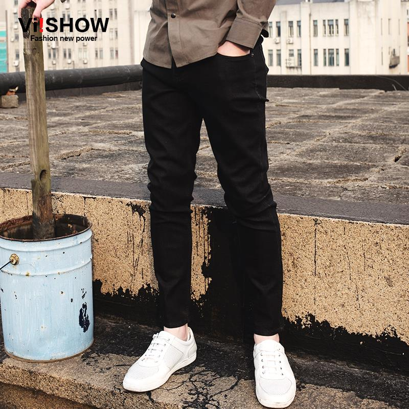цены  Viishow 2017 new brand jeans men straight denim pants hot mens designer jeans famous brand business men trousers NC58061