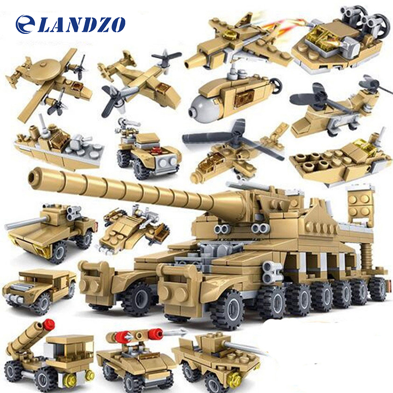 Military Series Thunder War Building Blocks 16 in 1 Assembled Toys Model 16 Kinds Children's Toys Compatible Lepin Blocks single sale marvel building blocks assembled baby diy toys legoelieds minifigures military engineering series blocks toy