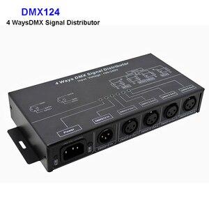 Image 1 - DMX124 DMX512 amplifikatör Splitter DMX sinyal tekrarlayıcı 4CH 4 çıkış portları DMX sinyal dağıtıcı; AC100V 240V giriş, ücretsiz kargo