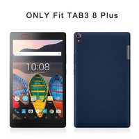 Tempered Glass Screen Protector PU Case Cover For Lenovo TAB3 Tab 3 8 Plus 8703 TB