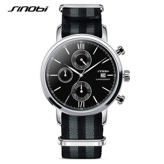1554150d37e Luxo SINOBI Mens Negócio Relógio de Pulso Moda Casual Esporte Vestido  Relógio De Couro Genebra Relógios