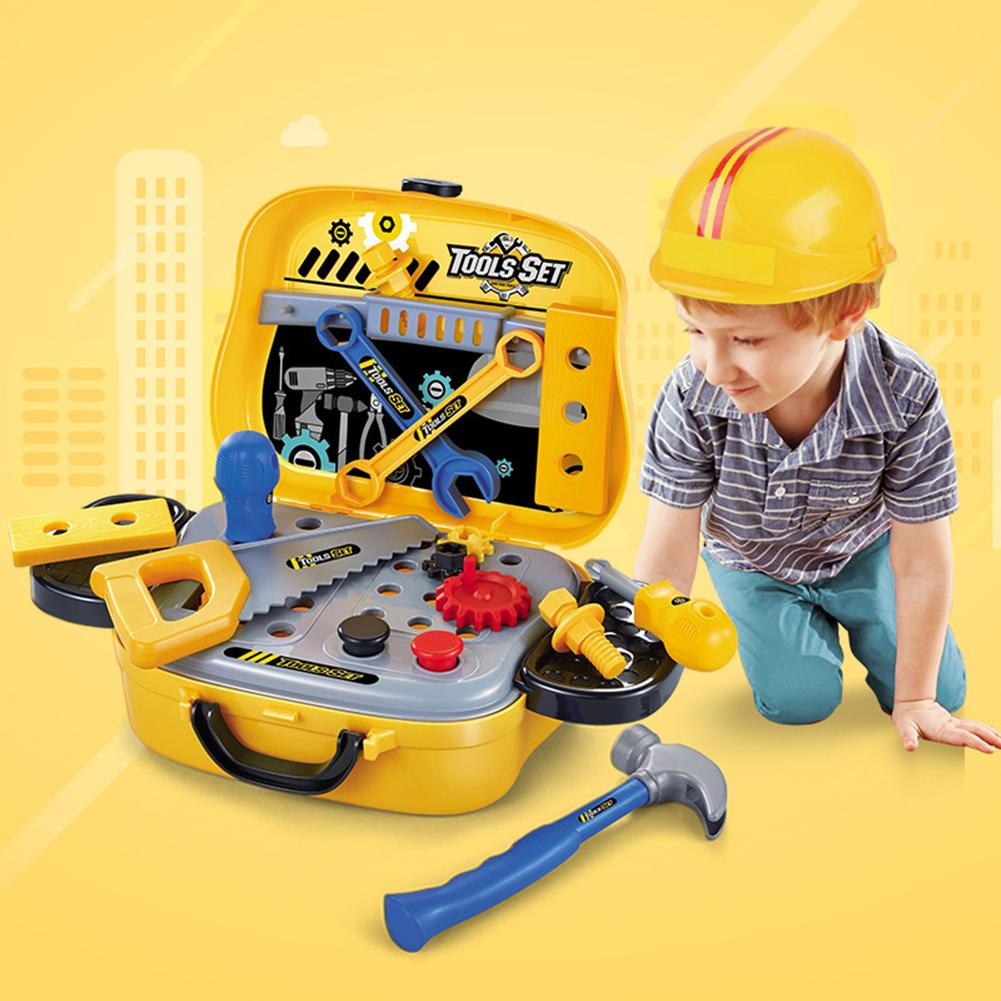 2018 Anti-stress Toy Pretend Play Children Repair Tools Game Play Toy Suitcase Simulation Kids Plastic Toy Set 32pcs set repair tools toy children builders plastic fancy party costume accessories set kids pretend play classic toys gift