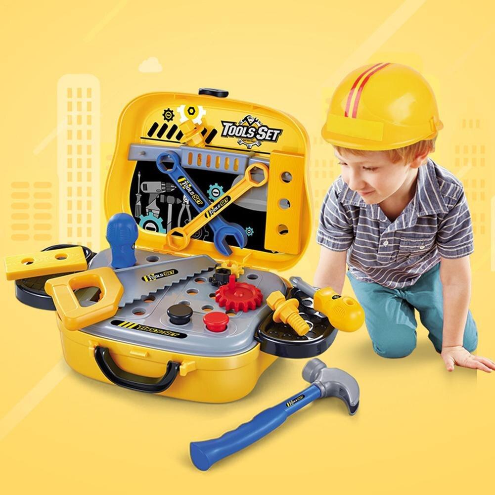 2018 juguete Anti-estrés juego de simulación niños herramientas de reparación juego de juguete maleta simulación niños juguete de plástico