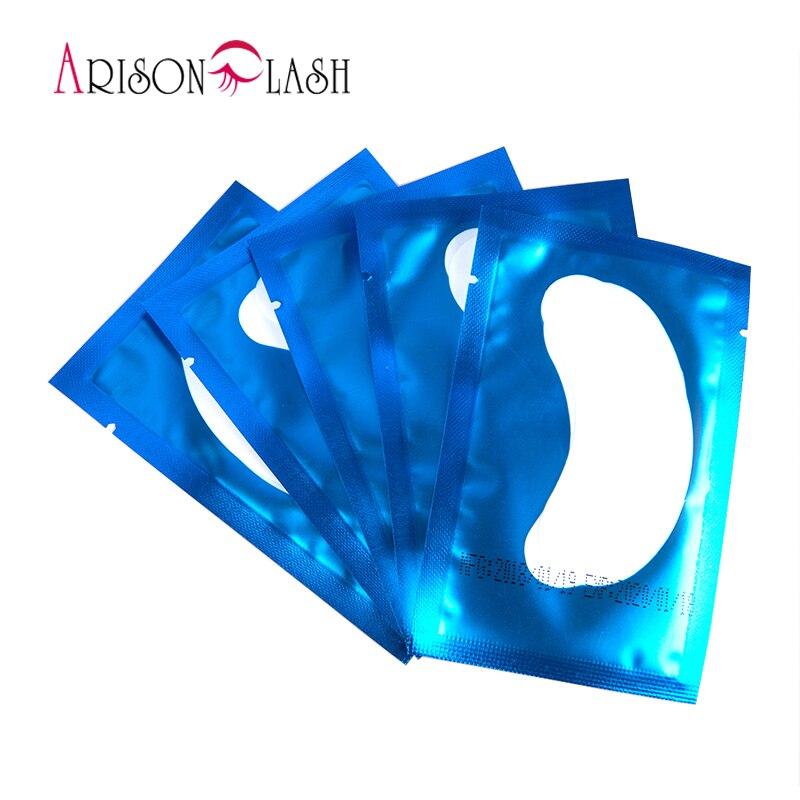 50 pares eyelash extensión papel Parches, nuevo parche de papel pestaña bajo el ojo pads Lash ojo tips sticker wraps make up Herramientas