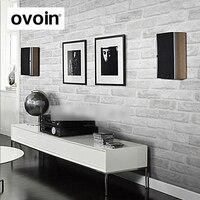 Deep Embossed 3D Brick Wallpaper Brick Pattern Paper Wallpaper Roll For Wall Stone Light Grey White