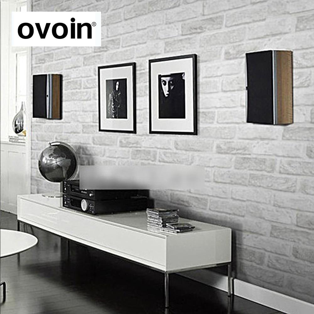 € 15.85 57% de réduction Vintage Rustique Gris Blanc Brique Wallpaper  Rouleau Chambre À Manger salon Revêtement Moderne 3D Mur Papier Décor À La  ...
