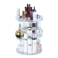 Adjustable Cosmetic Storage Rack 360 degree Rotating Desktop Storage Organizer Makeup Brushes Tools Lipstick Jewelry Holder