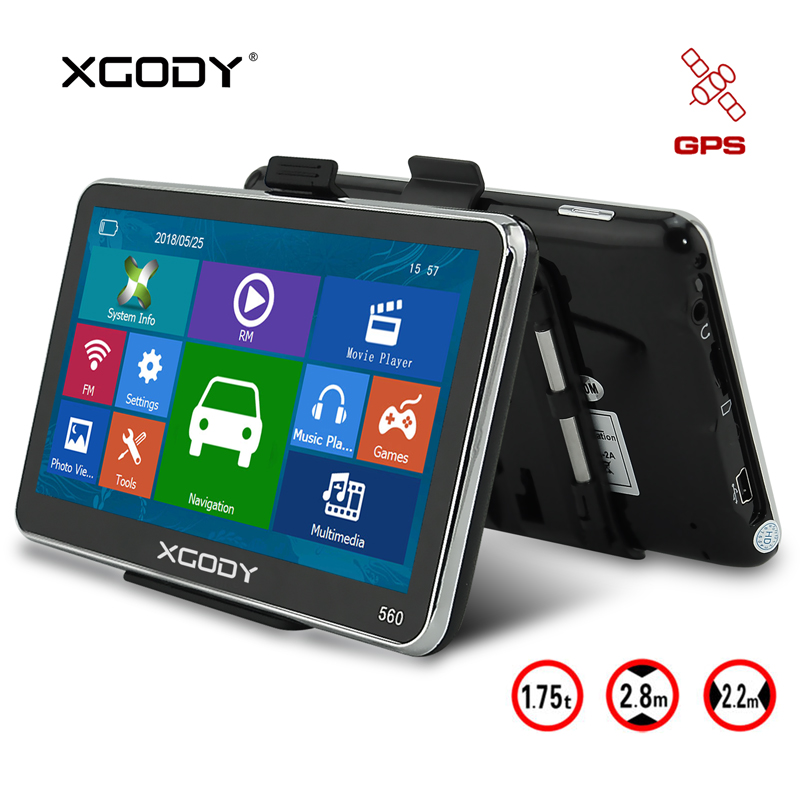 XGODY 5 Car GPS Navigator 128M+8GB Capacitive Touch Screen Truck GPS Navigation FM Bluetooth SAT NAV Sunshade Auto 2018 Map 560 5 inch tft lcd display car navigation device gps navigator sat nav 8gb 560 high sensitive gps receiver america map