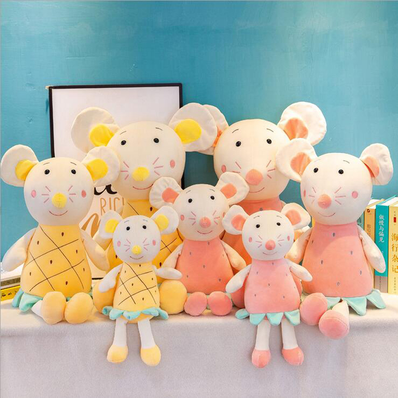Creative Lovely Fruits Mouse Doll Plush Toys Stuffed Animal Soft Toy Children Girls Gifts