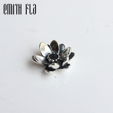 где купить Emith Fla 100% Real 925 Sterling Silver Giant Lotus Charm Beads Fit Original European Brand Charm Troll Bracelet Authentic DIY дешево