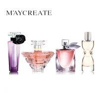 MayCreate 4PCS Set Original Brand Women Perfume Long Lasting Atomizer Perfume Bottle Glass Lady Flower Fragrance