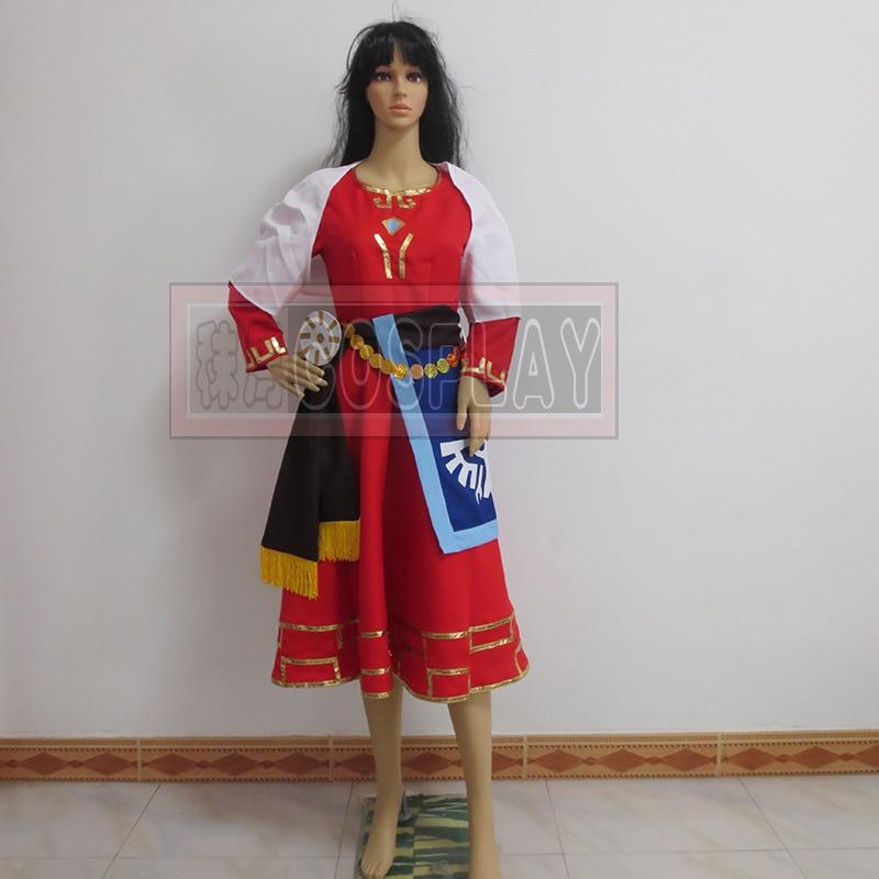 Free Shipping The Legend of Zelda Skyward Sword Zelda Cosplay Dress/Princess Zelda Costume Custom Any Size