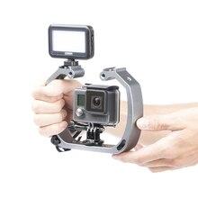 알루미늄 다이빙 사진 브래킷 프레임 마운트 키트 gopro 영웅 3 + 4 5 세션 이순신 액션 카메라 다이브 필 라이트 액세서리
