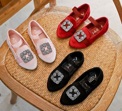Hot SALE bling Candy Color Girls Princess wedding brand Shoes Fashion Designer Kids dress Summer Girls Single Shoes Size