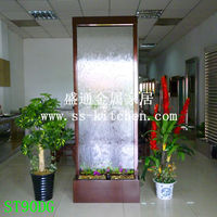 Indoor stainless steel water curtain/ fountains/water fountain/fengshui separating screen decoration/humidifier/house decoration