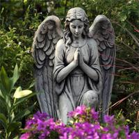 Big Nordic Wedding Wrought Resin Angel Girl Praying For Prayer Props Crafts Garden Decorations Ornaments Window Props