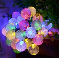Vioslite Bulbs Solar String Lights 30 LED Waterproof Solar Powered Outdoor Lights Bulbs Shape Christmas Or