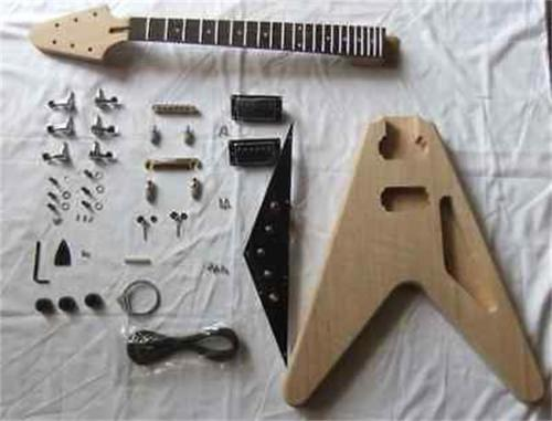 gax 2 dual coil pickups unfinished diy gax electric guitar without headstock 9 in guitar parts. Black Bedroom Furniture Sets. Home Design Ideas