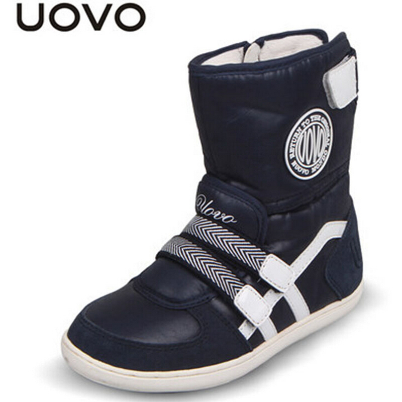 Uovo Brand Boots For Girls Boys Children Flat Soft Botas Kids Shoes Spring/Autumn/Winter Short Boots EU26-39 Zapatos Footwear