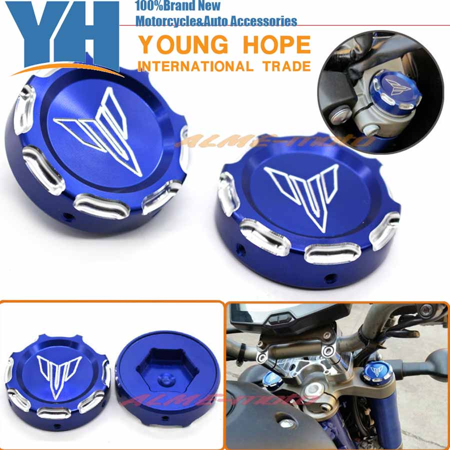 Подробнее о For YAMAHA MT07 FZ07 MT-07 FZ-07 2014-2015 Motorcycle CNC Billet Aluminum Front Fork Cover Caps Blue Free Shipping for yamaha mt07 fz07 mt 07 fz 07 2014 2015 motorcycle cnc billet aluminum front fork cover caps free shipping