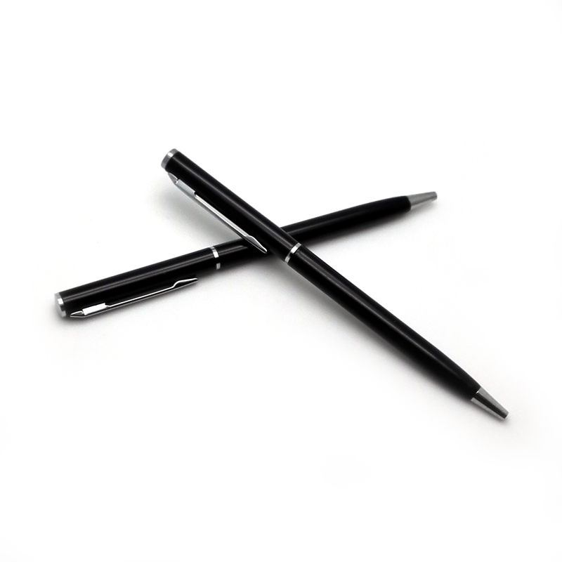 Hot Promotion Roller Pen Pocket Writing Pen Silver And Golden Clip Roller Black Ink Or Blue Ink Free Shipping 3pcs/lot