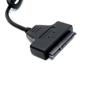Image 5 - Cable adaptador USB 2,0 a SATA de 22 Pines, 7 + 15 pines para HDD disco duro de 2,5 pulgadas
