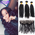 Brazillian Deep Wave Hair With Closure Lace Closure With Bundles Brazilian 3 Bundles With Closure 13x4 Frontal