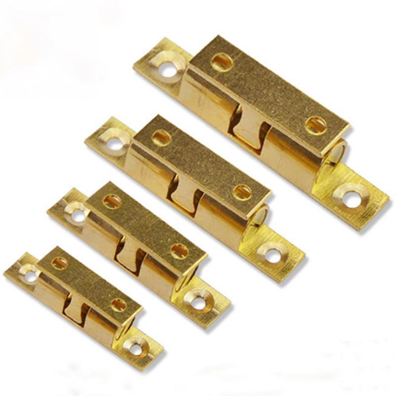1 Set Brass Door Buckle Slide Catch Lock Bolt Latch Barrel Home Safety Wardrobe Cabinet Spring Ball Door Lock Hardware #05