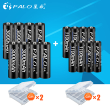 8 шт. 1,2 в AA перезаряжаемые батарея 3000 мАч NIMH 1,2 aa batteies + 1100 МА-ч AAA батарея для игрушечный микрофон