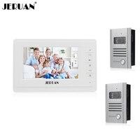 7 Inch Video Door Phone Intercom System Video Doorphone Doorbell Speaker Intercom Embedded Outdoor