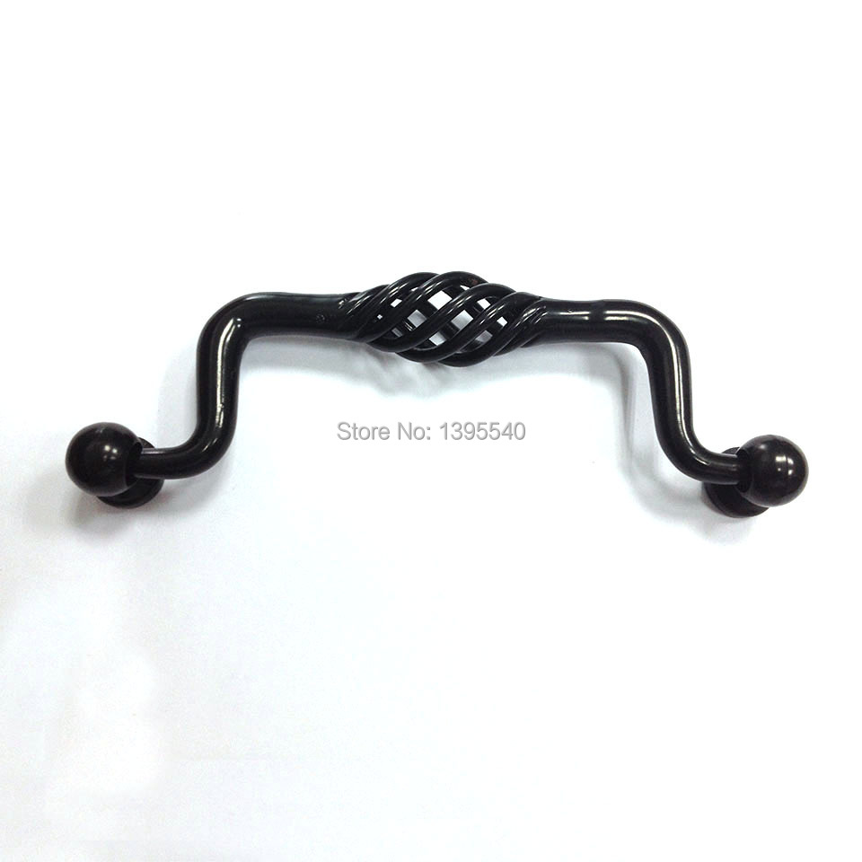 New 96mm Rural Antique Bridcage Cabinet Kitchen Handle Vintage Cabinet Drawer Knob Furniture Hardware Closet Knob Shoe Box Pulls antique european furniture handles cabinet handle door drawer circular copper