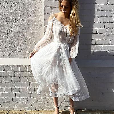 Aliexpress.com : Buy elegant lace Sheer white Asymmetrical summer ...