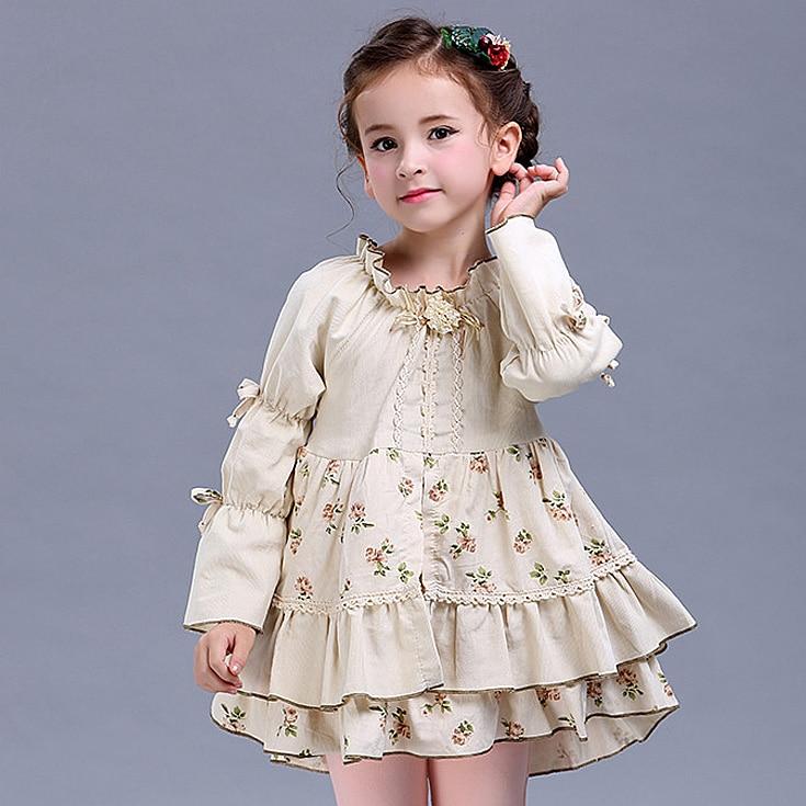 20665501a 6312 Ruffles Partido de la princesa vestidos niñas vestidos Otoño Invierno  niños vestidos para niñas bebé